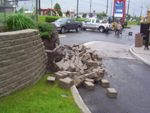 Failed Retaining Wall