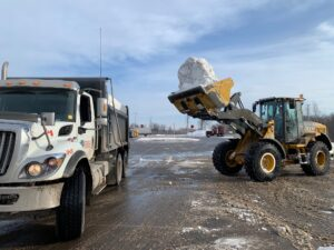 Town & Country Commercial Property Maintenance clearing Snow and Hauling it away
