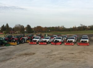 Town & Country fleet of snow plow trucks
