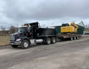 Town & Country Commercial Property Maintenance Truck hauling Equipment